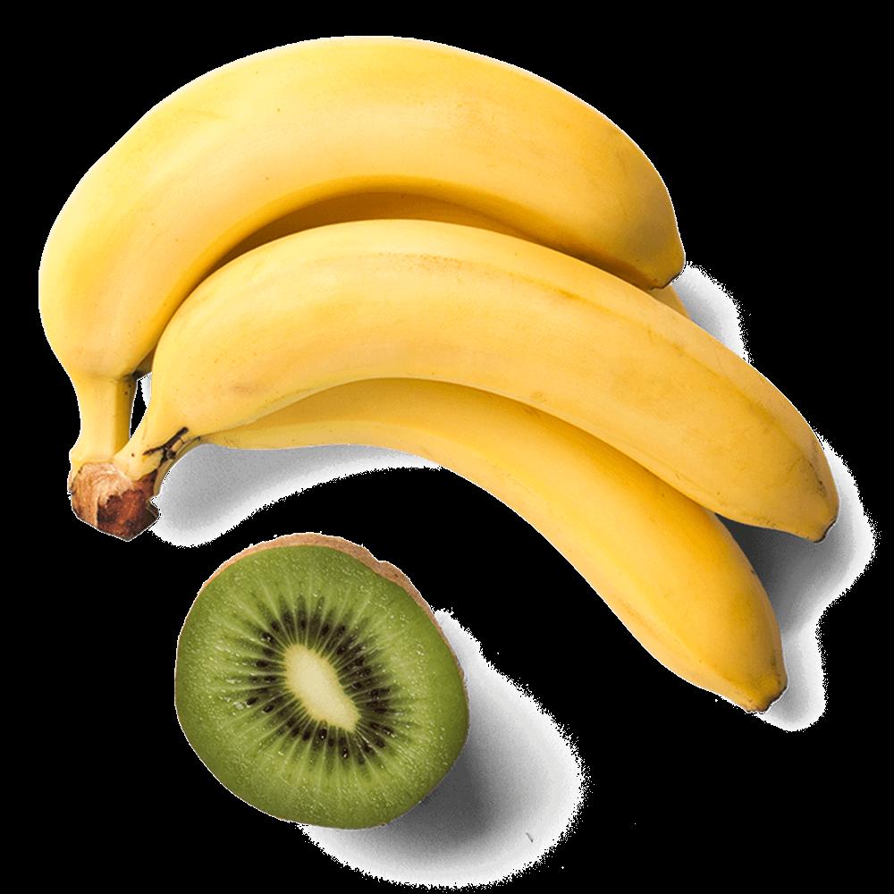 Bananen en kiwi